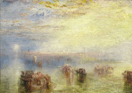 Turner, Joseph Mallord William: Approach to Venice. Fine Art Print/Poster. Sizes: A1/A2/A3/A4 (003545)